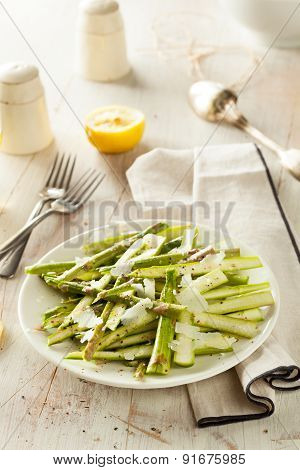 Raw Fresh Asparagus Salad