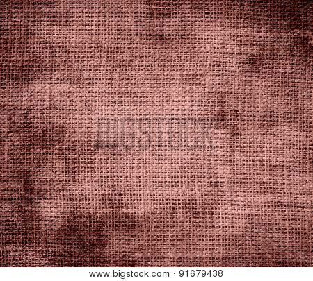 Grunge background of copper penny burlap texture