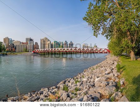 Peace Bridge and Bow River