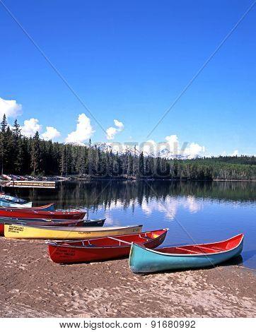 Pyramid Lake, Canada.