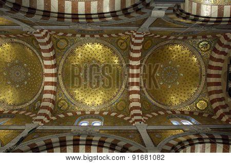 Interior Of Notre-dame De La Garde In Marseille