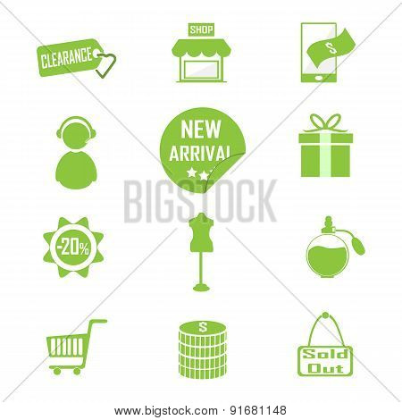 Shopping, Commercial Icon Vector Illustration