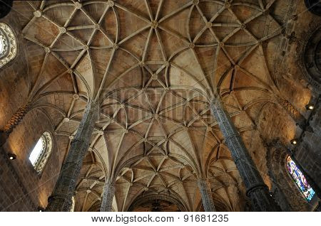 Portugal, Interior Of Jeronimos Monastery In Lisbon