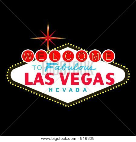 Las Vegas Sign At Night