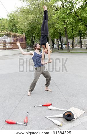 Street Juggler Performers Vienna