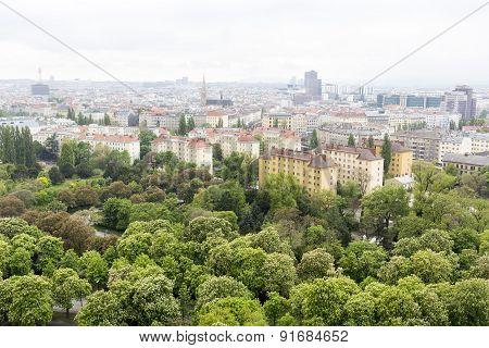 Vienna Cityscape Aerial View