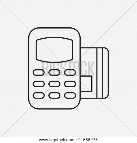 Credit Card Machine Line Icon
