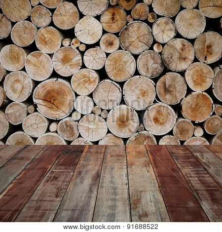 Wood Industrial Background