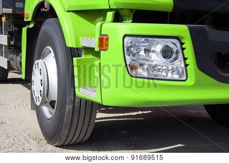 Green Truck With Big Wheels