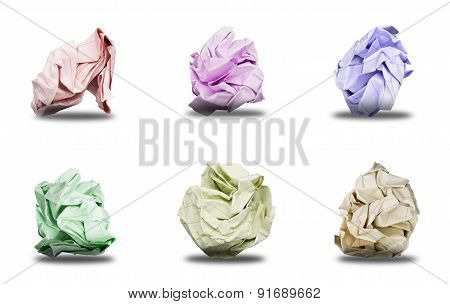 Balls Crumpled colored paper