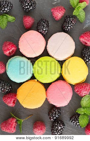 French Macaroons, Top View