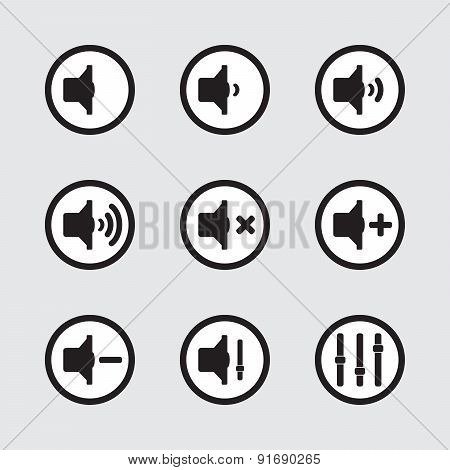 Speaker Icons Set