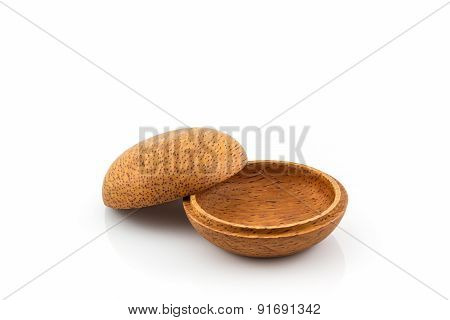 Small Wooden Box Or Container Palm Wood Product, Handicraft .