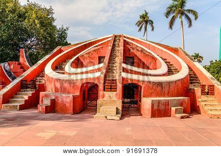 The Jantar Mantar In New Delhi, India