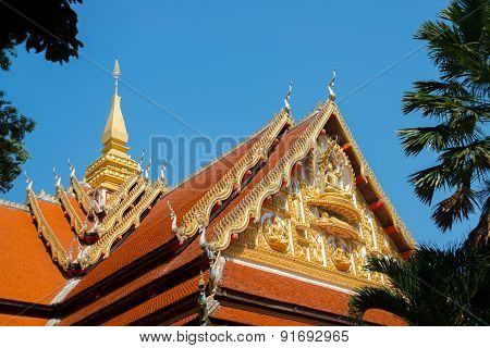 The Temple In The Capital Of Laos