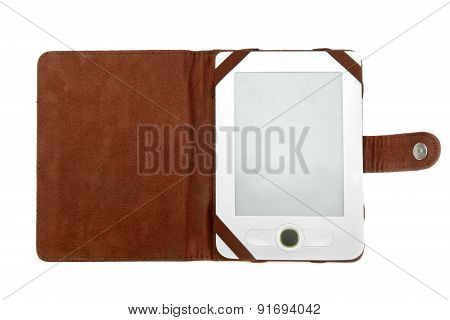 Electronic Book Isolated On White Background