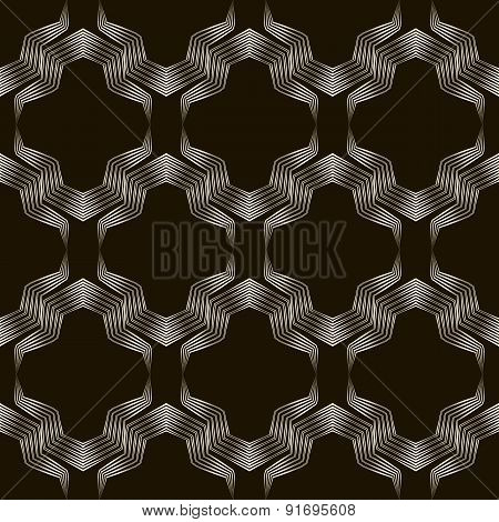 Seamless Geometric Ornament Pattern. Stylish Background 2d Repeating Texture