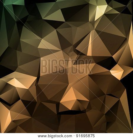 Polygon Abstract Texture In Dark Elegant Colors Background For Web Design