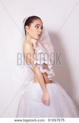 Portrait Of A Beautiful Bride In Veil