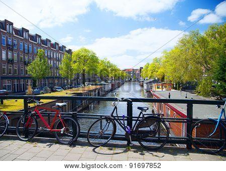 Sunny Summer Day In Amsterdam