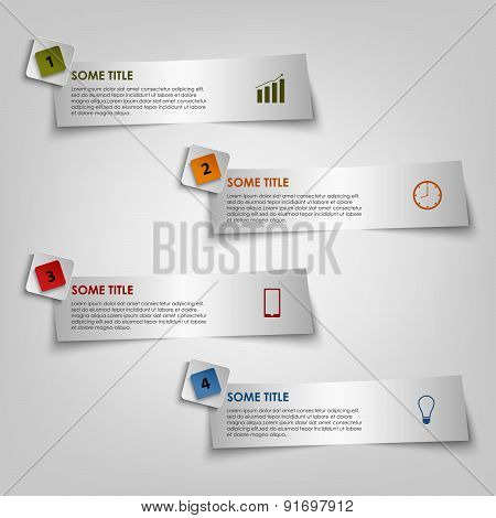 Info graphic on the light stickers template