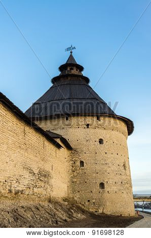 View On Fortress In Pskov, Russia