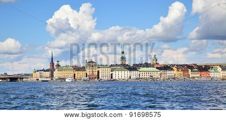 Panorama of the Old Town of Stockholm (Gamla Stan)