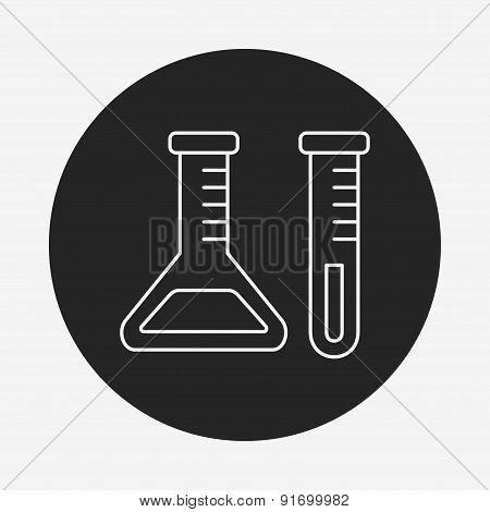 Experiment Beaker Line Icon