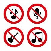 picture of music symbol  - No - JPG