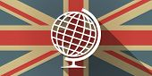 picture of flags world  - Illustration of a UK flag icon with a world globe - JPG