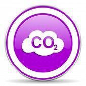 picture of carbon-dioxide  - carbon dioxide violet icon co2 sign - JPG