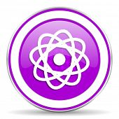 picture of atomizer  - atom violet icon  - JPG