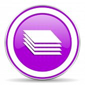 image of gage  - layers violet icon gages sign - JPG