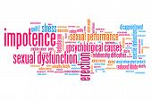 image of erectile dysfunction  - Impotence and sexual dysfunction concepts word cloud illustration - JPG