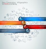 pic of maxim  - Infographics modern template to classify data and informations with an original touch - JPG