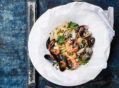 pic of clam  - Seafood pasta  - JPG