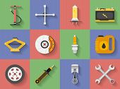 picture of lube  - Icon set of Car repair parts car service - JPG