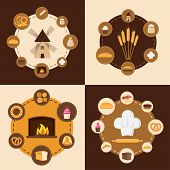 image of pretzels  - Vector illustration - JPG