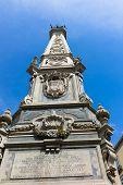 foto of obelisk  - San Domenico Maggiore square whit its caratheristic obelisk naples - JPG