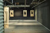 pic of shooting-range  - an indoor shooting range at a police dept - JPG