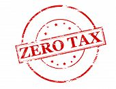 picture of zero  - Rubber stamp with text zero tax inside vector illustration - JPG