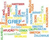 pic of grief  - Background concept wordcloud multilanguage international many language illustration of grief - JPG