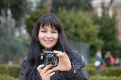 stock photo of luigi  - Tourist girl in Piazza Bocca della Verit - JPG