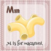 picture of letter m  - Flashcard letter M is for macaroni - JPG
