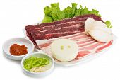 image of korean  - Samgyeopsal popular Korean dishes - JPG