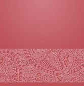 foto of hippy  - Vector ornate background with ornamental border  - JPG