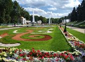 Beautiful Garden Complex In Peterhof