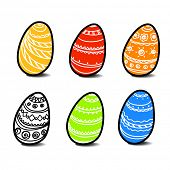 stock photo of pasqua  - Eastereggs - JPG