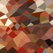 image of geranium  - Low polygon style illustration of geranium red abstract geometric background - JPG