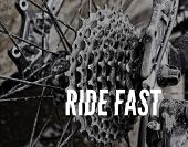 pic of bicycle gear  - Photograph of a bicycle stars gears and chain with the words - JPG